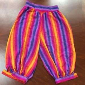 Vintage 100% boho silk bloomer pants 🌈💫😍